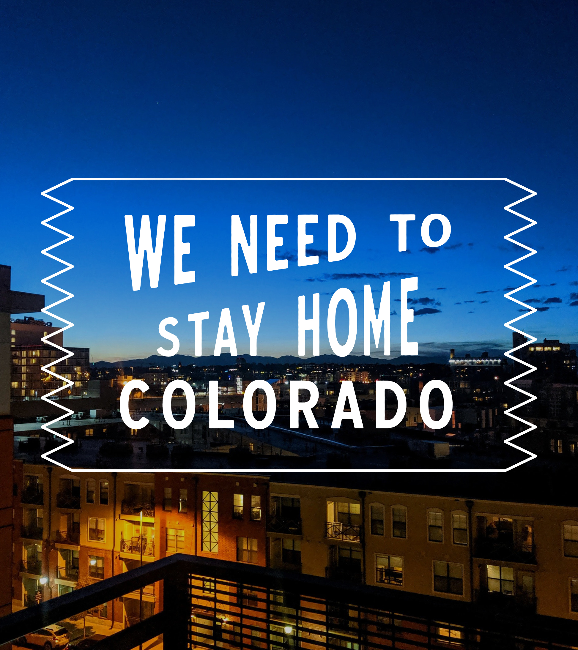 #StayHomeColorado - City Scene