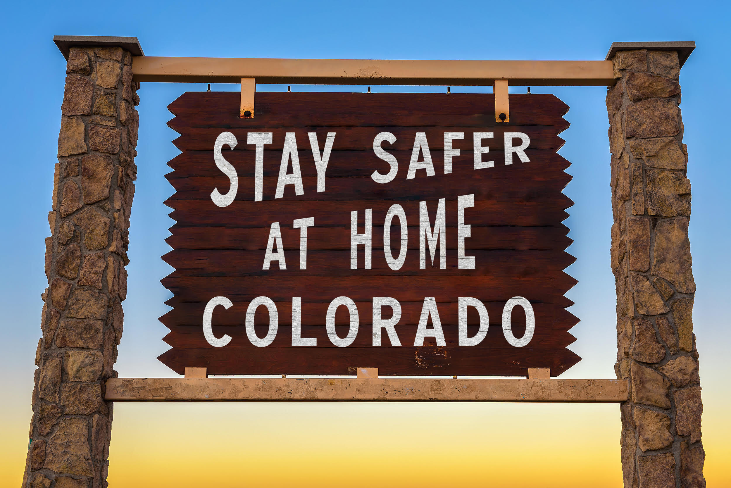 #StayHomeColorado - Colorful Colorado Sign