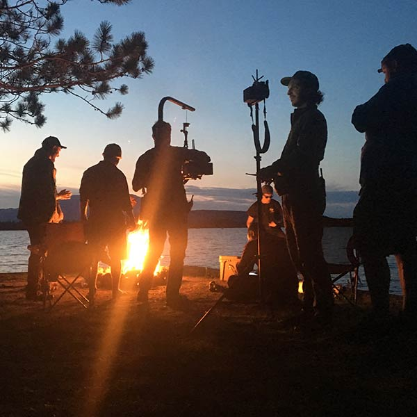 behind the scenes look at video shoot in Maine