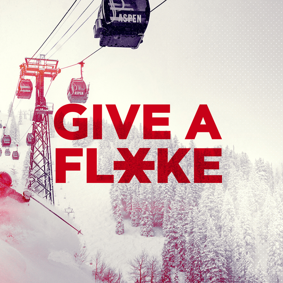 """Give a Flake"" Image-builder web module with the words ""Flake yourself."""