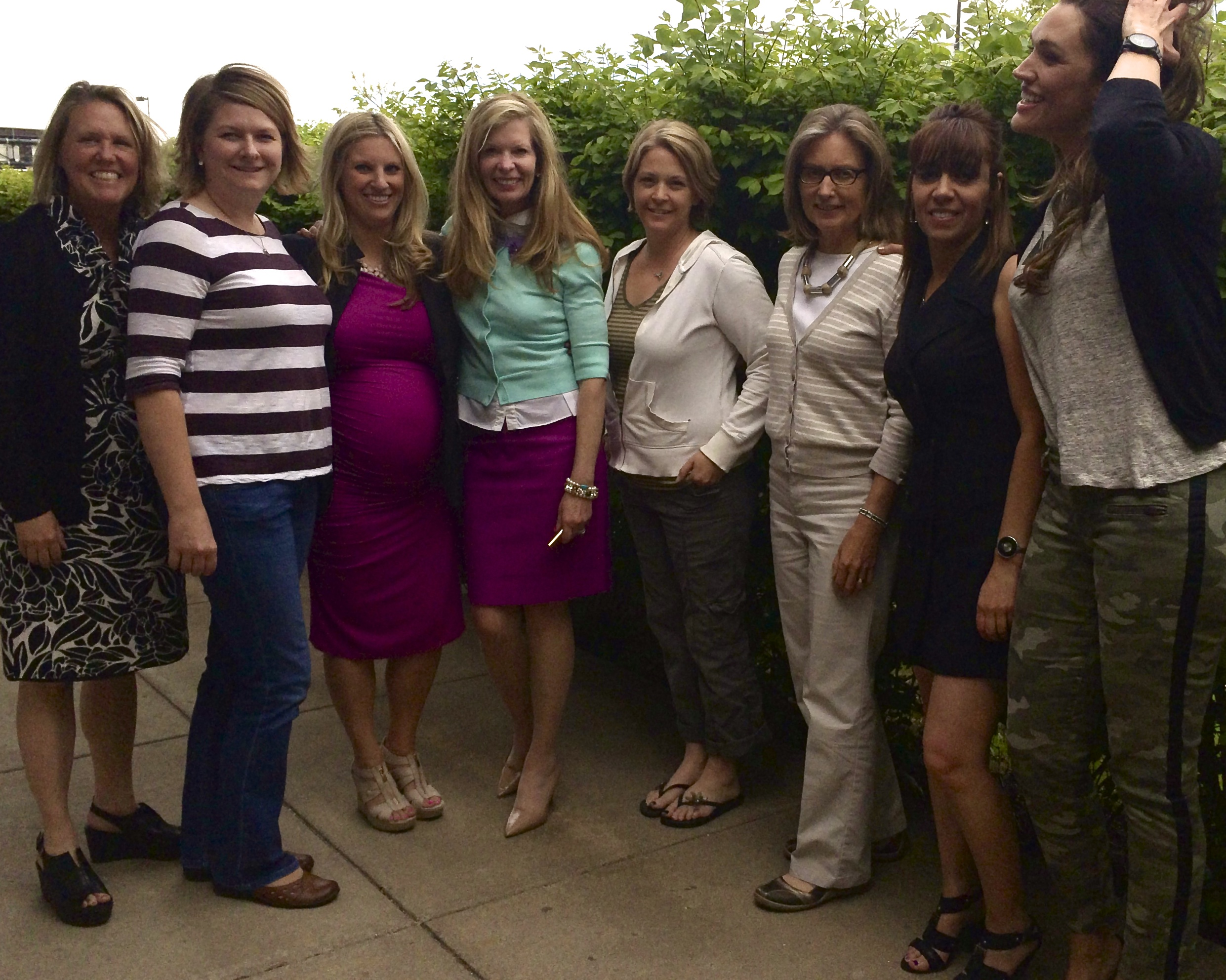 KH Moms Meg, Karen, Caitlin (soon to be!), Kathy, Jen, Bonnie, Raygina, Rachael [not pictured: Charlotte and Tracy]